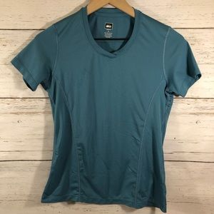REI Women's Athletic Teal T-shirt Size Small